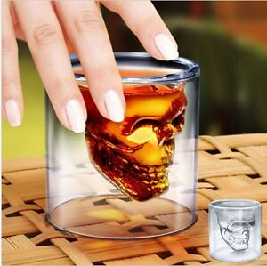 1x-Skull-Vodka-Shot-Whiskey-Wine-Beer-Bar-Glass-Drinking-Cup-Party-Xmas-Gift