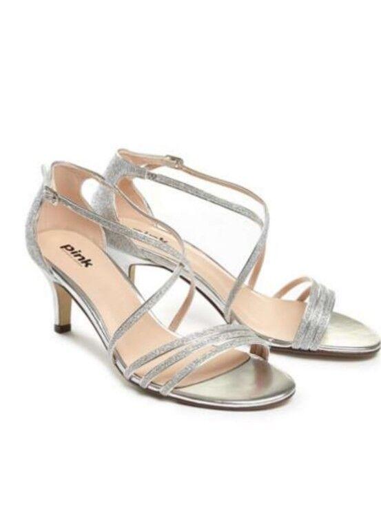 PARADOX LONDON Sandals PINK Isla Strappy Mid Heel Sandals LONDON SIZE EU 42 38d40a