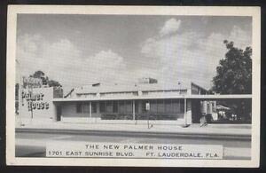 Details About Postcard Ft Fort Lauderdale Florida Fl New Palmer House Restaurant View 1950 S