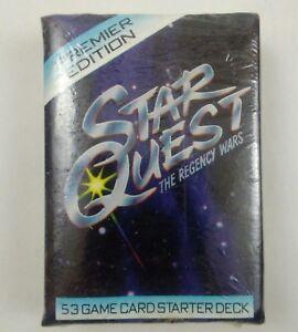 1995 Star Quest The Regency Wars 53 Game Card Starter Deck CCG TCG New!