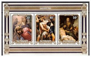 25325) Penhryn 1981 MNH New Easter S/S