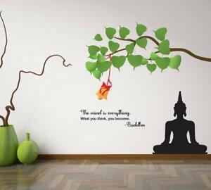 Buddha Quotes Wall Sticker Art Vinyl Decal Mural Home Bedroom Decor Ebay