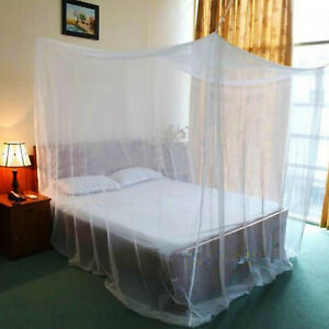 White-Mosquito-Fly-Insect-Net-Bed-Netting-For-Single-Double-King-Size-Box-Shape