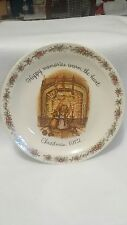 Holly hobbie christmas 1972 collector plate commemorative edition.