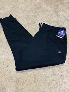 Champion-Men-s-Authentic-Athleticwear-Black-Sweatpants-Size-2XL