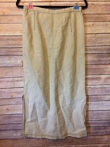 Eddie-Bauer-Women-039-s-Linen-Skirt-Sz-8-Natural