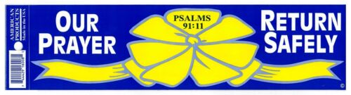 10 Our Prayer Return Safely Yellow Ribbon Military Troop Support Bumper Sticker