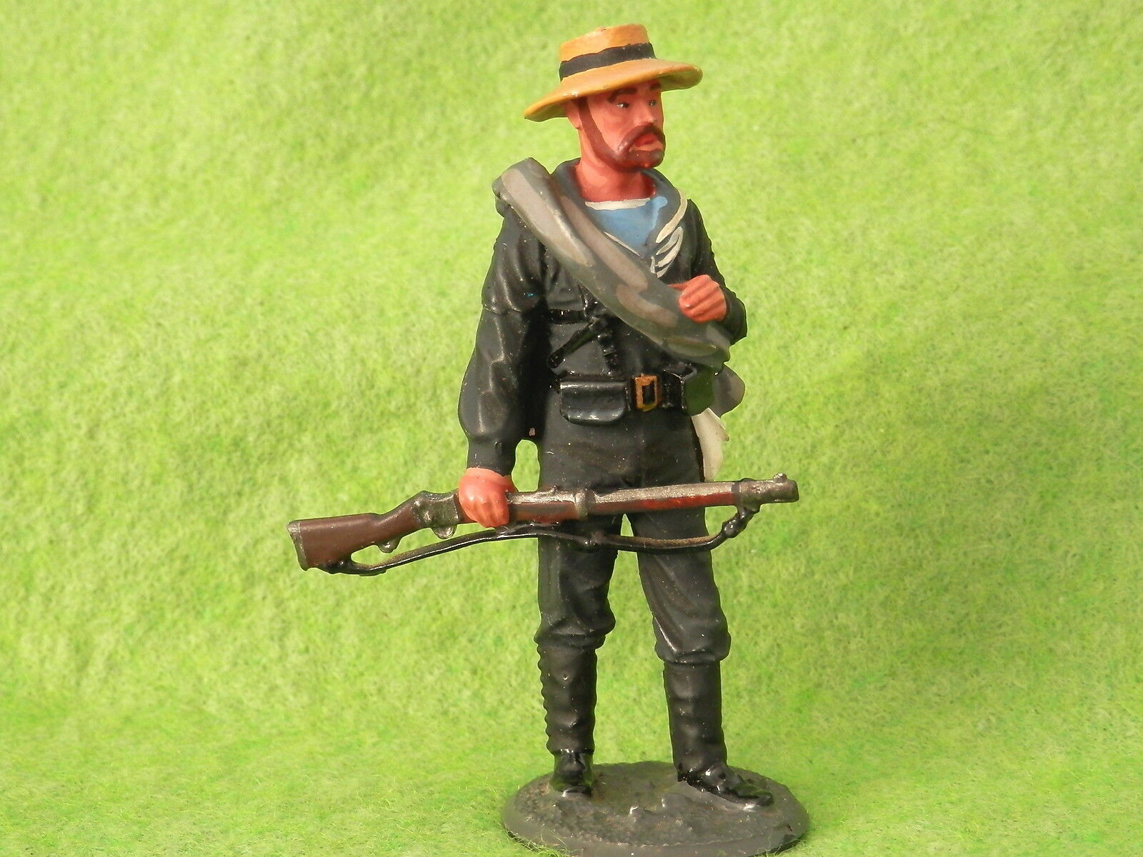 NAVAL LANDING PARTY ZULU WAR 1878 PAINTED METAL MODEL 65 70 MM