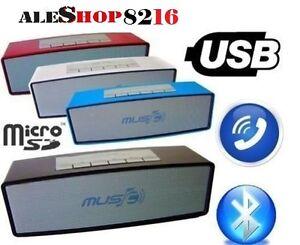 CASSA-PORTATILE-CON-FM-SD-USB-BLUETOOTH-MP3-SMARTPHONE-SPEAKER-ALTOPARLANTE