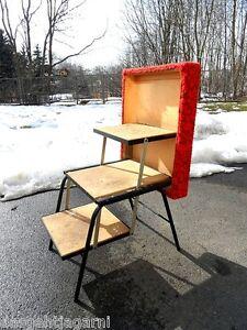 70er jahre klapphocker leiter hocker tritthocker klapptritt mehrzweckhocker rot ebay. Black Bedroom Furniture Sets. Home Design Ideas