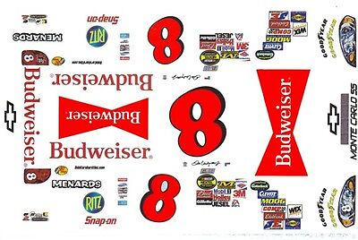 #8 Dale Earnhardt jr Tribute to Grandpa 1//43rd Scale Slot Car Decals