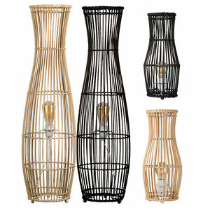 Large-Wicker-Rattan-Floor-Standard-Lamp-Natural-Brown-Wooden-Asian-Oriental-Home