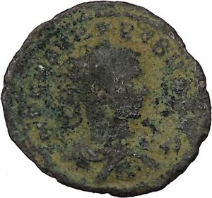 Probus-receiving-wreath-from-Orbis-276AD-Antioch-Ancient-Roman-Coin-i45967