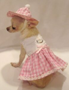 Harness-Dress-Dog-Dress-Dog-clothes-Little-Daisy-Set-SIZE-MED-or-L-FREE-SHIP
