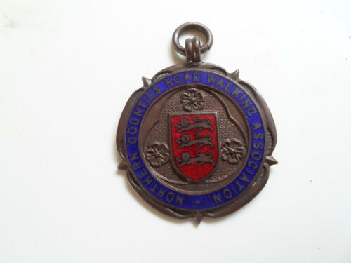 Vintage Rare Enamel MedalMedallion Northern Counties Road Walking Association