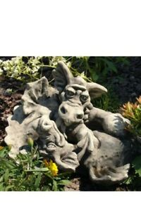 Drachenkinder-Vidroflor-Drachen-Figur-Skulptur-Gartenfigur-Steinguss-Steinfigur