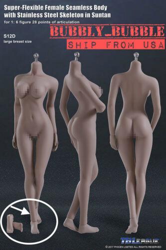 TBLeague 1//6 Super-Flexible Seamless Female Figure Body L Bust SUNTAN S12D USA
