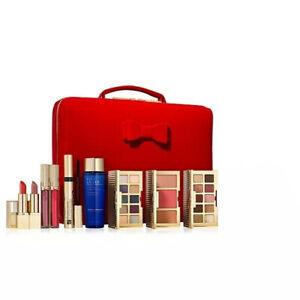 NIB 2020 Estee Lauder Beauty Essentials Make Up Gift Set 9PCs with train case