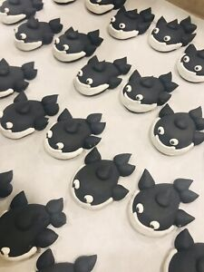 24-Icing-Black-Whale-Cupcake-Toppers-Birthday-Party-Zoo-Antarctic-Marine-Cake