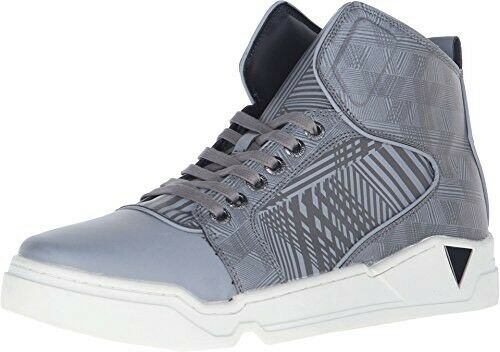 Guess Men's Brice High Top shoes Reflector Material In Grey Sneakers Sz 8.5