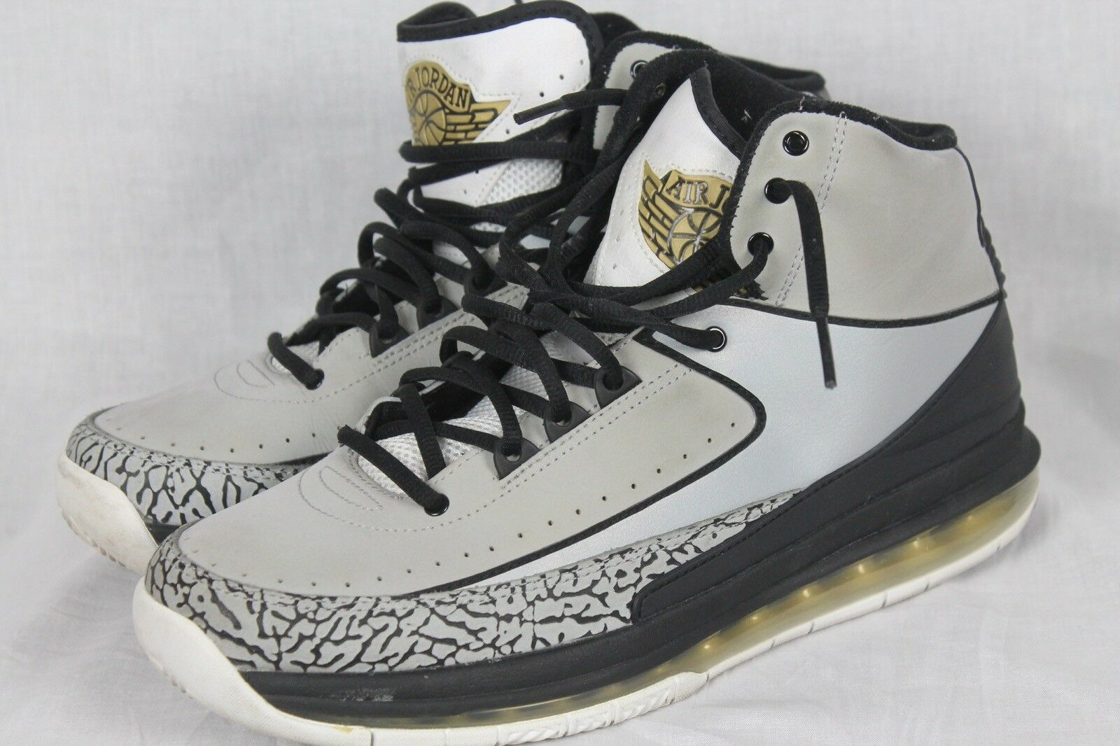 Nike Air Air Jordan Retro 2.0 Max Air Air Mens Cement Gray/Black 455616-017 Sz 10 7c8826