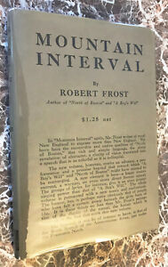The Road Not Taken,Robert Frost~Facsimile/1916 Mountain Interval First Edition