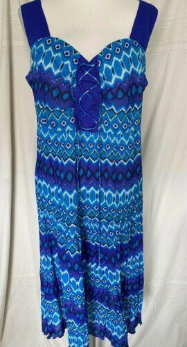 Phool 100/% cotton voile sundress lace front shirring elastic back frill hem