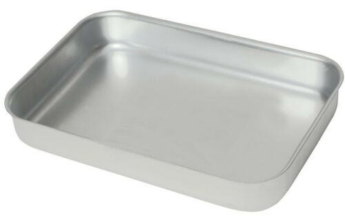 Heavy Duty Aluminium Oven Baking Tray Dish Catering 370 x 265 x 70mm
