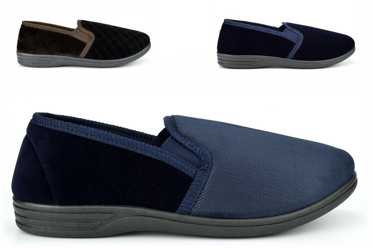 Mens Carpet Slippers Mens Extra Large Slippers Slip On Extra Large Sizes 13/14