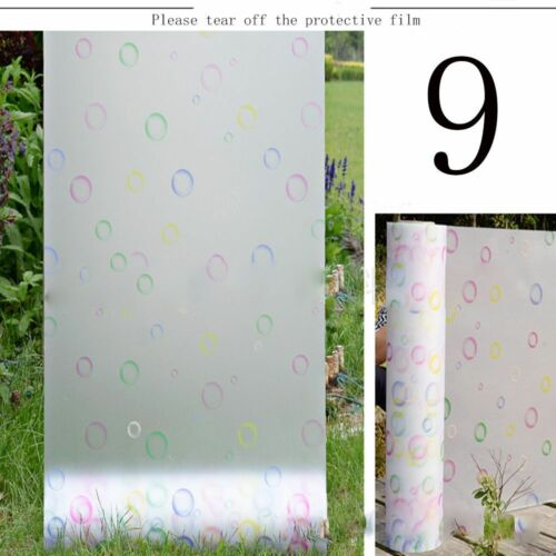 1PC Frosted Cover Glass Window Door Flower Sticker Film