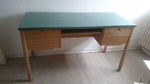 50er Jahre Ekawerk Schreibtisch Grune Tischplatte Resopal Horn Lippe