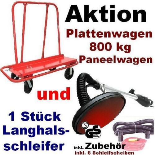 1x Plattenwagen 500 kg und 1 x Langhalsschleifer Typ 1 Deckenschleifer Schleifer