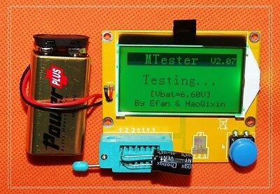 Mega328 Transistor Tester ESR Meter Digital led Diode Triode Capacitance MOS PNP