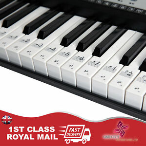 Music-Keyboard-or-Piano-Stickers-36-KEY-SET-Educational-clear-LAMINATED-stickers