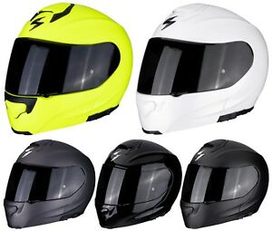 Scorpion-Exo-3000-Air-Solid-Casque-de-Moto-Modulable-avec-Systeme-Pompe-Sport