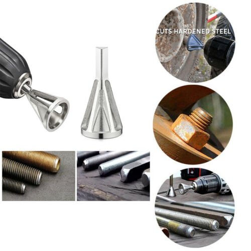 Stainless Steel Deburring Chamfer Tool Drill Bit Remove Burr Silver Tire Repair