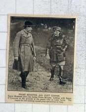 1925 Mussolini a passeggio con il signor D'Annunzio, poeti Villa LAGO di Garda