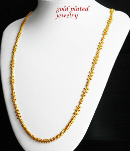 Jewellery & Watches Necklaces & Pendants 22k Real Looking Gold Black Beads Necklace Chain Kapa Jewelry