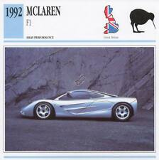 1992 McLAREN F1 Classic Car Photo/Info Maxi Card