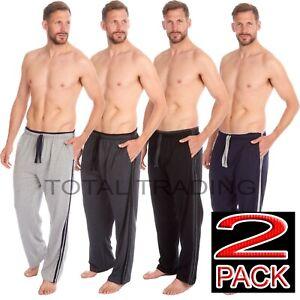 2-pack-pyjama-bottoms-trousers-mens-pjs-lounge-wear-pants-side-stripe-edge