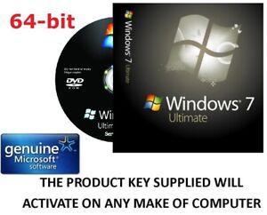 microsoft windows 7 ultimate 64 bit genuine product key