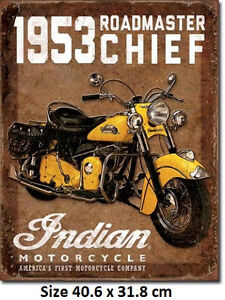 1953-Indian-Roadmaster-Tin-Sign-1932-Official-Licensed-Sign