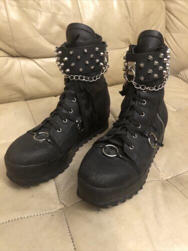 Dolls Kill womens punk boots size 13