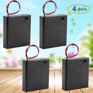 1-10-20-Pcs-ON-OFF-Switch-Plastic-Cover-4x1-5V-AA-Batteries-Case-Box-Holder