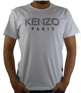 T-Shirt Kenzo Paris Bianco 100% Originale