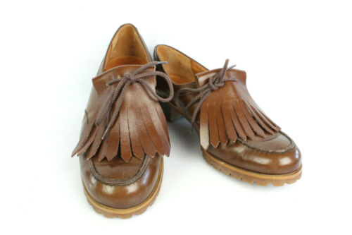 Mocassin UNIC Brown Leather VINTAGE T 36,5 US 5,5 MADE IN FRANCE