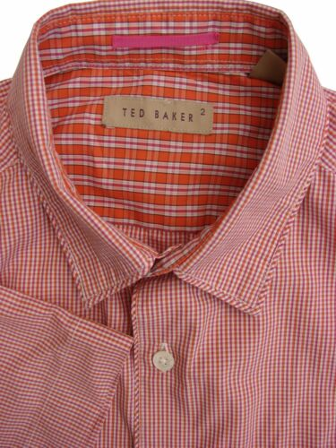 Sleeve Ted Mens Pink Short Baker 14 Shirt Check 5 New S amp; Orange RfPqHRw