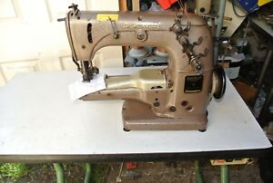 CYLINDER-ARM-UNION-SPECIAL-TWIN-NEEDLE-COVERSTITCH-Industrial-Sewing-Machine