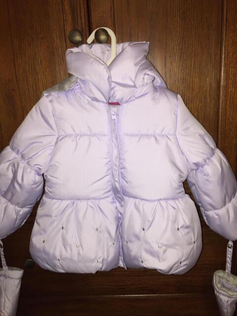 beb9675f4 LONDON FOG 24 Month Light Lavender Bubble Puffer Jacket w hood ...