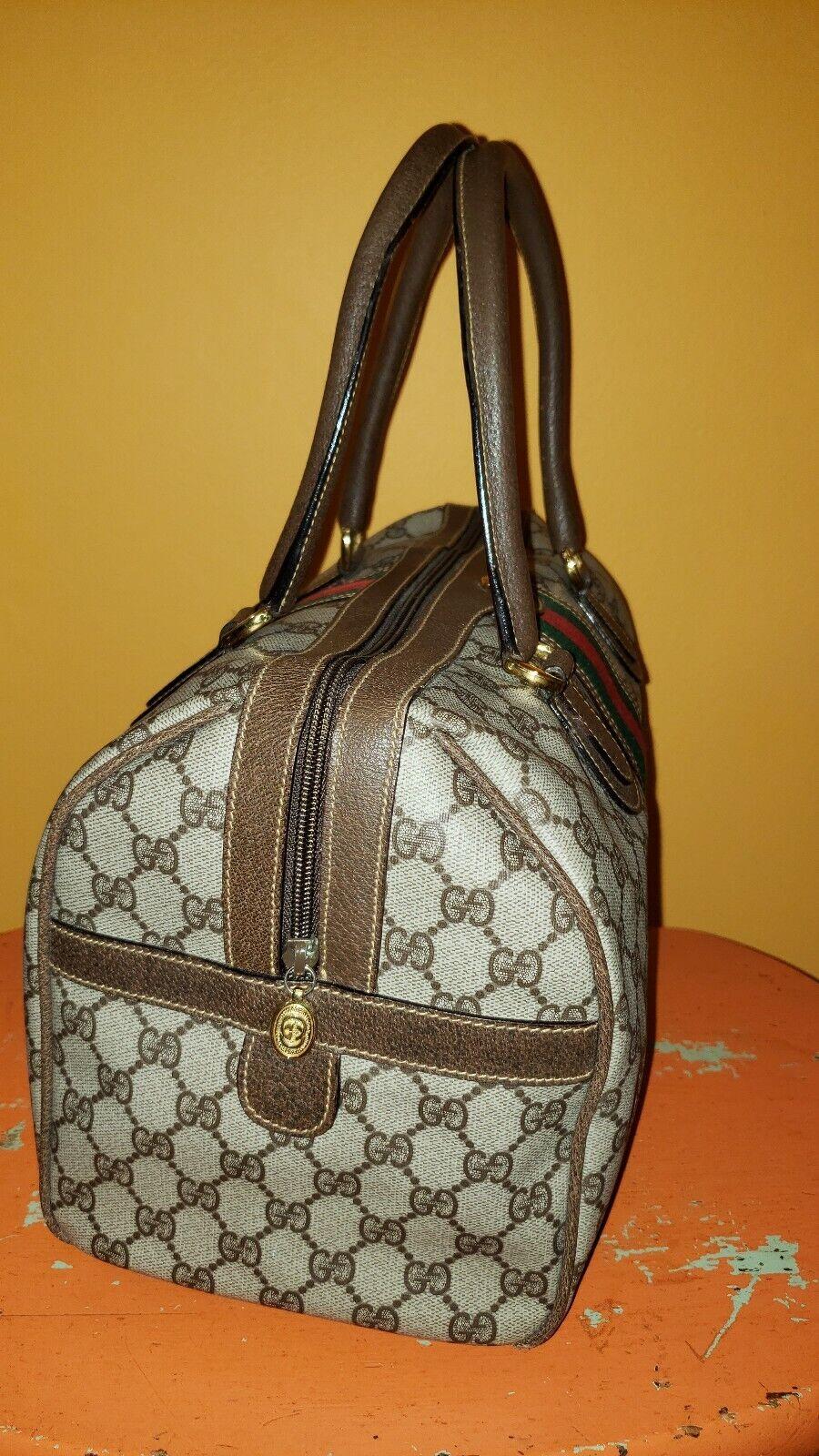 Vintage Gucci GG Monogram Boston Brown Speedy Bag… - image 2